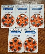 30 X Rayovac Crystal Clear Plus Hearing Aid Batteries Size 13 PR48 A13