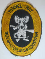 TUNNEL RAT - Ops Patch - NOT WORTH A RAT'S ARSE - CU CHI - Vietnam War - 1648