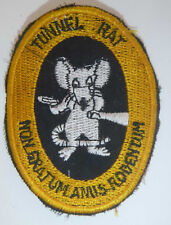 Tunnel Rat - Rare Ops Patch - NOT WORTH A RAT'S ARSE - CU CHI - Vietnam War - Y