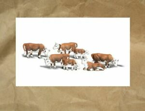 NEW ~ Woodland Scenics HEREFORD COWS Figures ~ Mayhayred Trains N Scale Lot