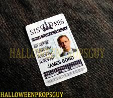007 Style James Bond MI6 ID Card PVC Prop Replica Daniel Craig MADE IN USA