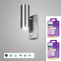 Aussenleuchte Aussenlampe Wandleuchte mit Philips LED Bewegungsmelder Edelstahl