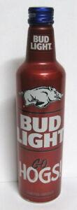 Bud Light 16 oz Aluminum Beer Bottle 2021 ncaa ARKANSAS RAZORBACKS #503834