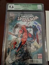 The Amazing Spider-Man 700 CGC 9.6 signed by 6 x names Stan Lee J scott Campbell