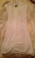 A/X ARMANI EXCHANGE Ivory Sweater Dress size Small Off-White Cream FREE SHIPPING