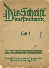 Die Schrift im Handwerk - Heft 1