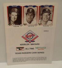 Texas Rangers All Time Team Set Baseball Cards #1-54 Cards + Nolan Ryan Day DVD