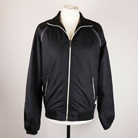 Mens JACK & JONES Bomber jacket Windbreaker Size MEDIUM Lightweight Black Zip-up