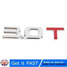 3.0 T Emblem Badge Stickers Logo Metal Chrome 3D For Audi VW Ford Hyundai