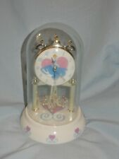 Disney Princess Cinderella Anniversary Glass Dome Clock Battery Operated in Box