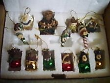Boyds Collection Holiday 12 Miniature Ornaments, Tree Topper