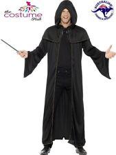 Wizard Black Cloak Robe Costume Harry Potter Merlin Hobbit Fancy Dress Up