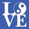 Love Yin Yang Symbol Vinyl Decal Sticker Tao Buddha Spiritual