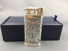 Sillem's IM Corona Sterling Silber Lea Puro Double Side Old Boy Feuerzeug