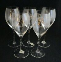Lot of 5 Crate & Barrel Crystal Adrienne Goblet 12 oz. Wine Glasses Slovakia