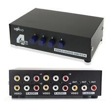 """4 porte Ingresso 1 uscita audio RCA AV Video Switch Box """