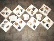 Puppy Paradise Porcelain Dog Angels Complete Bradford Set Christmas Ornaments 24