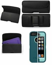 XL BELT CLIP HOLSTER  LEATHER POUCH FOR iPHONE SE FIT AN OTTERBOX CASE
