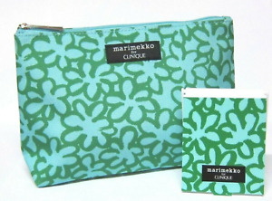 Clinique Marimekko TEAL Cosmetic Bag & Matching Mirror LIMIT EDITION NEW