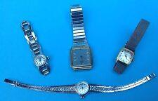 Konvolut 4x Damen Uhr Armbanduhr Amara Favor Seiko Junghans teils Silber ~1950