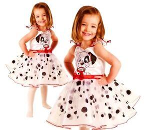 Child DELUXE 101 DALMATIAN Ballerina Cruella Girls Fancy Dress Costume Dalmation