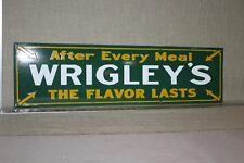 WRIGLEY'S CHEWING GUM CANDY CHICAGO PORCELAIN SIGN GAS OIL FARM BARN CAR DOG