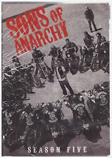SONS OF ANARCHY SEASON 5 (DVD, 2013, 4-Disc Set,Slim Line Box) NEW