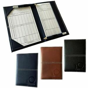 Golf Scorecard Holder Pu Leather Finger Ten JOB LOT X 5 BARGAIN £5 EACH