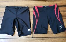 Boys Tyr 22 Size 5 6 Swim Jammers Lot Of 2
