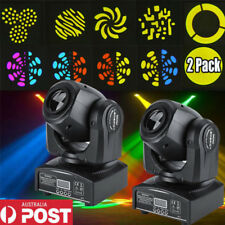 2Pack 30W RGBW LED Moving Head Light DMX512 Stage Party DJ Pub Bar Show Lighting