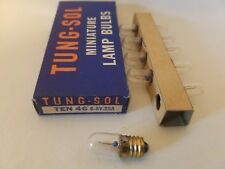 Box of 10 Tung-Sol 46 Ts46 Ge46 Miniature Screw Lamps Light Bulbs 6-8V