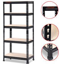 Heavy Duty Shelf Garage Steel Metal Storage 5 Level Adjustable Shelves Rack