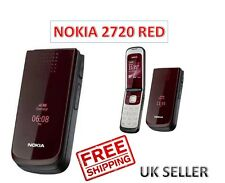 Brand New Sealed Nokia 2720 Fold Red 3G Unlocked Mobile Phone Complete Box