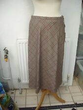 Escada lined check wool skirt 36E UK10 US6  Red + black label NEW