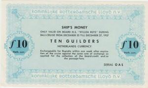 "Pays-Bas 10 Florins Schiffsgeld Pays-Bas East Indies Rotterdam Lloyd "" Will"