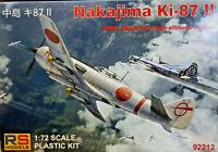 Nakajima Ki-87 II Japanese WWII Fighter - RS Models Kit 1:72 92212 Nuovo
