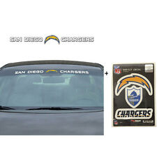 NFL San Diego Chargers Car Truck Suv Windshield Decal Sticker with Bonus