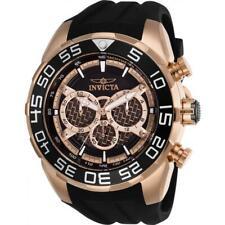 Invicta Men's 26304 Speedway Quartz Multifunction Rose Gold Black Dial Watch