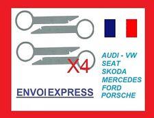 4 Llaves de Extraccion para desmontar radio CD AUDI SEAT VOLKSWAGEN FORD SKODA