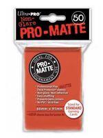 Ultra Pro Deck Protector Sleeves Matte Non Glare Peach Pokemon MTG 50 in Pack