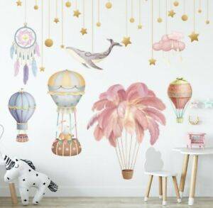 New large hot air balloon  background wall sticker vinyl home wall decor