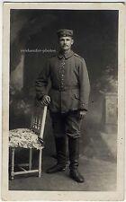 Wk 1, junger Soldat mit EK2 und Reitstiefeln, Original-Photo um 1915.