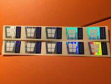 10 pcs fits 2018 Microsoft windows 10 Pro hologram laser Sticker Decal 17 x 23mm