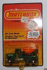 1983 Matchbox #19 Peterbilt Cement Truck Green Big Bele RARE CARD Unpunched! EE5