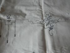 HAND MADE LINEN TABLE CLOTH WITH 12 NAPKINS 72 X 90 inches