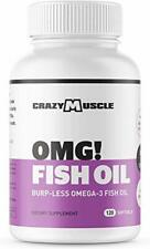 Omega 3 Fish Oils Supplements - NO Fishy Burps - 100% Anchovies (Lower Mercury w