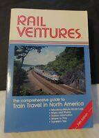 ***VINTAGE 1992 RAIL VENTURES NORTH AMERICAN TRAIN TRAVEL GUIDE BOOK***