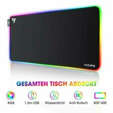 VicTsing RGB LED Backlight 800 x 400mm Mauspad XXL Anti-Rutsch Mat Game Mousepad