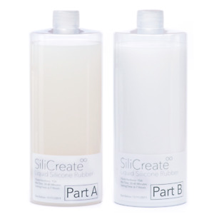 SiliCreate Liquid Silicone Rubber Mould Making Kit - 1:1 Mix - 1Kg/2Kg/4Kg/8Kg