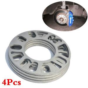 4Pcs 5mm Alloy Aluminum Car Wheel Spacers Shims Spacers Fit 4/5 Stud Tire Fixing